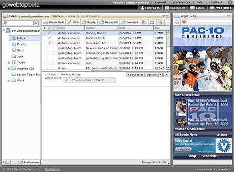Vortex Application in Laszlo Webtop